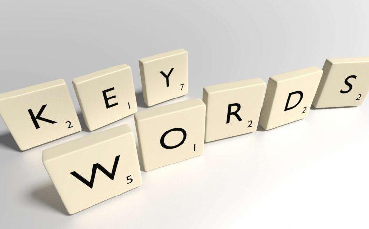 """""""Key Words"""" written in scrabble letters"""