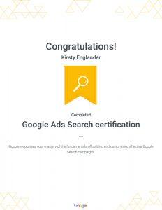Googel ads certification